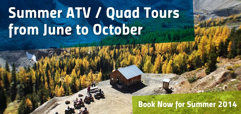Summer 2014 ATV / Quad tours to a high alpine bowl.  Click for details