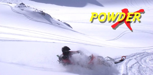 Powder X full day snowmobile tour