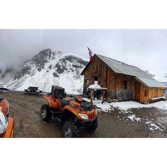 June snowfall at Paradise Cabin today.