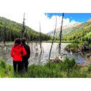 Checking out the big beaver pond in the Bruce Creek …