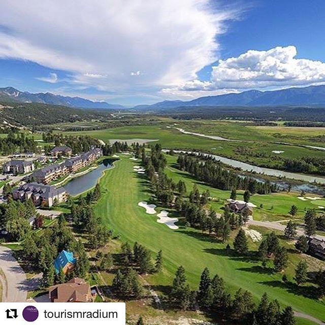 Instagram Repost from @tourismradium ・・・ Radium Golf Group check this awesome shot of the #SpringsCourse out! photo by @cultghost #explorebc #kootrock #radium
