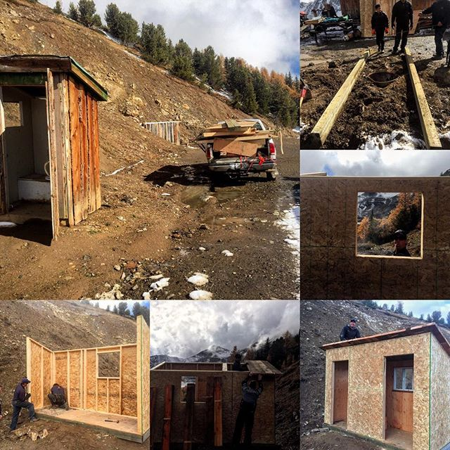 Big day up at Paradise Cabin today constructing a new …