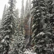 The Smith Falls looking spectacular with fresh snow today.