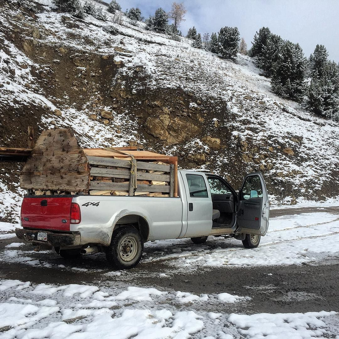 Two full loads of firewood stacked away – ready for …