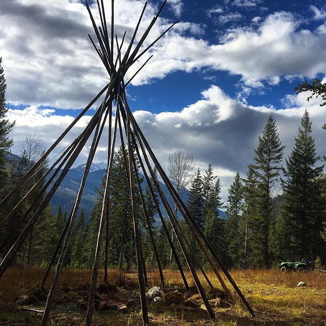 At one time we had a Tipi at this location, …