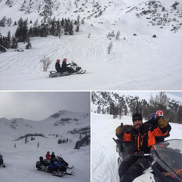A great day exploring Paradise today!  #snowmobile #panoramabc #banff …
