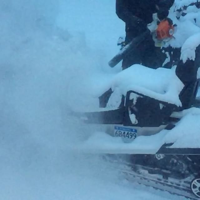 #SnowDay !! Today's #snowmobile tour guests have fresh pow awaiting …