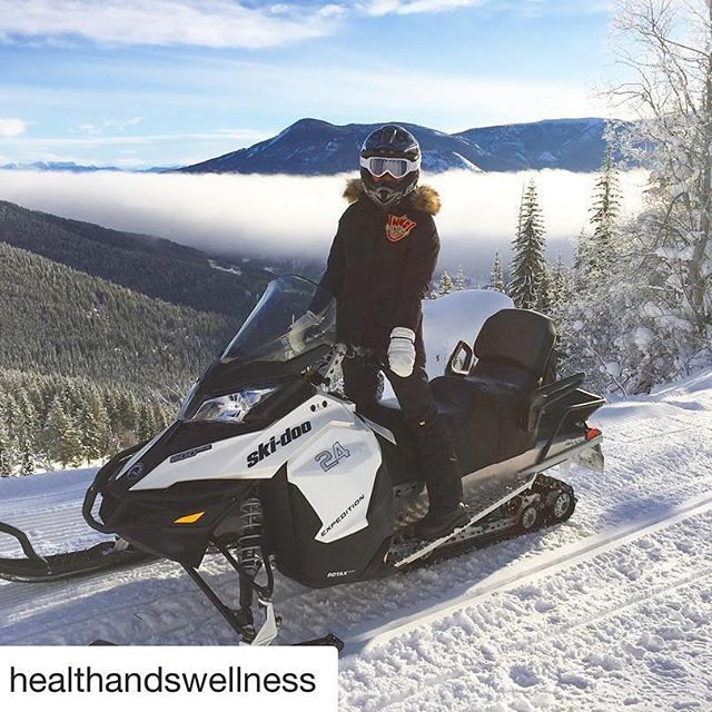 Instagram repost from @healthandswellness ・・・ Snowmobiling to an elevation of 2,400 feet, above the inversion 🌥 with the Rockies in the distance on this gorgeous morning 🏔. #purecanada #panorama #adventure #exploreBC