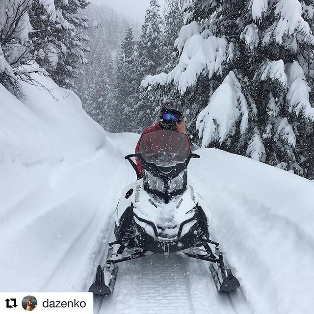 Instagram repost from @dazenko ・・・ On Thursdays we sled #skidoo …