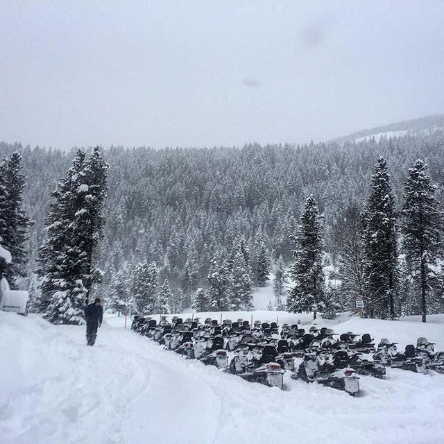 Ready to go! #Snowmobile Tour. #BCStorm