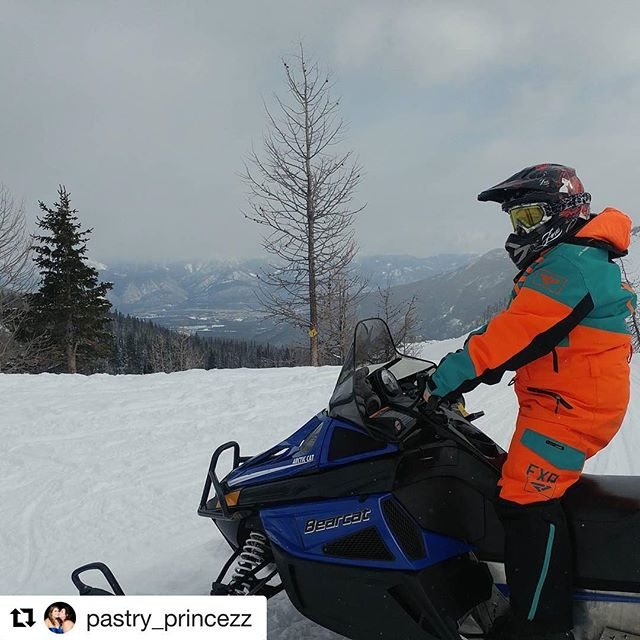 Repost from @pastry_princezz ・・・ I am in love with my vacay....lol #tobycreekadventures #snowmobile #snow
