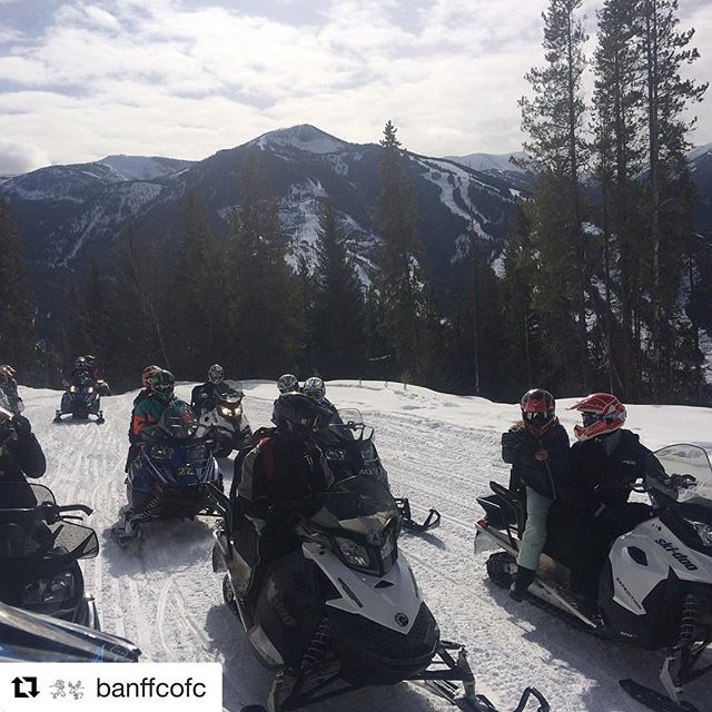 #Repost from @banffcofc ・・・ O, Canada...watch out for the @banffcofc snowmobile gang. Super dangerous, super cool. Thanks @tobycreekadv for the incredible time! #banffcofc17 #tobycreekadventures #banffcofc