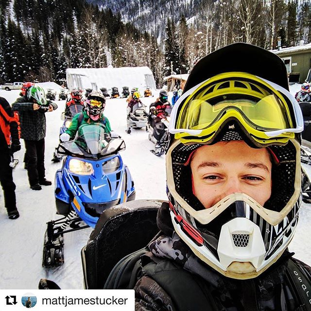 #Repost from @mattjamestucker ・・・ Insanely fun today ripping around on these bad boys #snowmobile #tobycreekadventures
