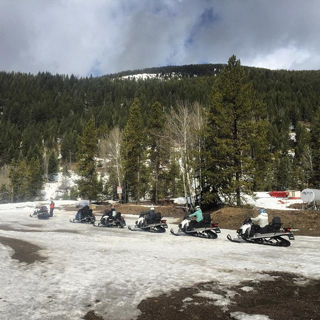 END OF SEASON - A few days ahead of our planned closing but with snow rapidly disappearing at our base, today was the last snowmobile tour of the season. Thank you to all our guests, staff and partners for another awesome winter season.  We are now closed until June when we expect to to open for our summer ATV tours.