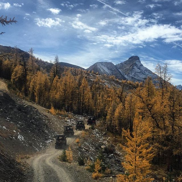 Take the road less travelled this fall. #atvtours #PurcellMountains #CanadianRockies #PanoramaBC #PureCanada #Banff #ExploreBC #CFMoto #Teryx #PureCanada