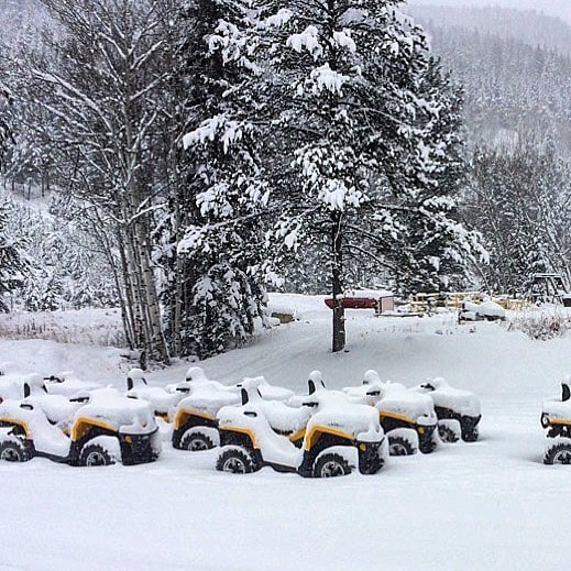 The #snow keeps coming!! It's time to tuck these #ATV's away for #winter and bring out the sleds!! #Snowmobile season is just around the corner. Book online today or give us a call.  We ❤️groups - design your own group tour to suit your schedule and requirements. We have all kinds of ideas to make your #Christmas or #NewYear family or company adventure a huge success. Call us today and we will make it happen.  #CanadianRockies #SkiBanff #Banff #Canmore #Calgary #PanoramaBC #PureCanada #PanoramaMountainResort #TobyCreekAdventures