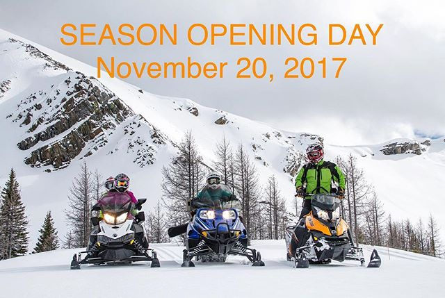 OPENING DAY - NOV 20, 2017  #Snowvember has been very good to us at #TOBYCREEKADVENTURES and there's lots more #snow forecast for the coming week.  We are excited to announce our EARLIEST OPENING EVER on Monday November 20th for the following daily #snowmobile tours:  Paradise Mine Half-Day Tour - 9:30 am and 1:00 pm  Mountain Icefall Two Hour Tour and Taste of the Valley One Hour Tour. (Please call for times)  FREE #Banff and #Canmore hotel pickups will be available for the Half Day tour only (min numbers apply)  Call us today and be one of the first to experience an amazing #CanadianRockies snowmobile adventure this winter.  #PanoramaBC #PureCanada #Invermere #radiumhotsprings #kootrocks #Explorebc