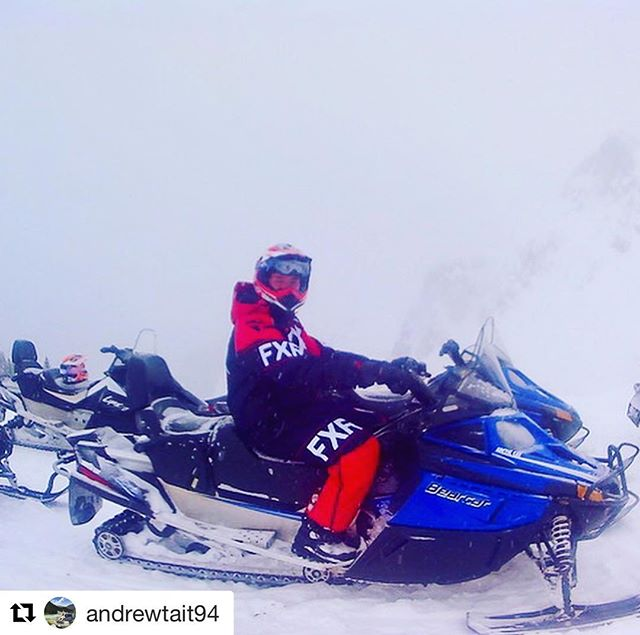 REPOST: @andrewtait94 ・・・ Another first today – snowmobiling at Toby …