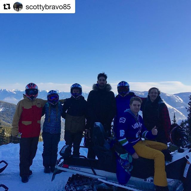 REPOST: @scottybravo85 ・・・ Thanks for a great day snowmobiling!!! @tobycreekadv