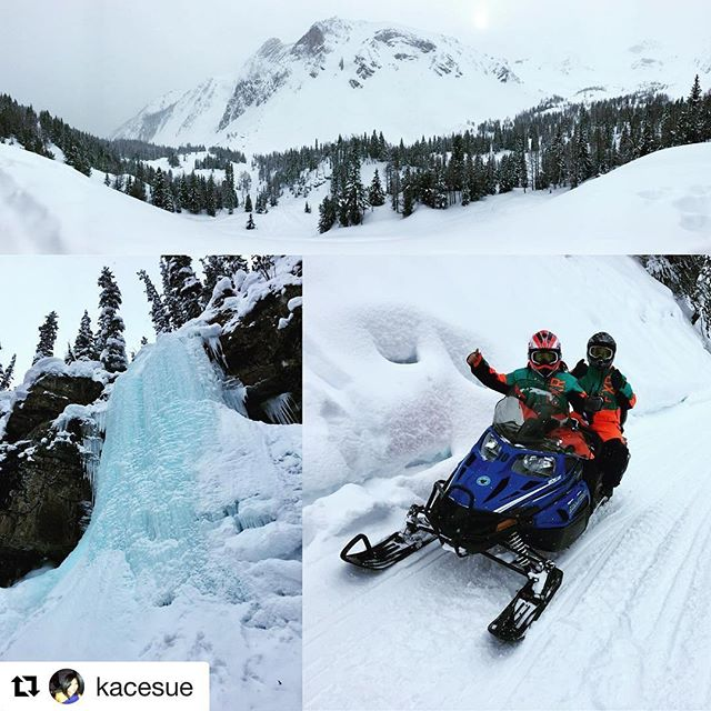 #Repost @kacesue ・・・ Day 3: Snowmobiling and hot springing. Thanks …