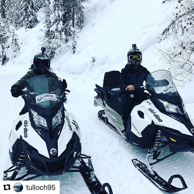 #Repost @tulloch95 ・・・ What an absolute perfect day !, Cannot thank the team at @tobycreekadv enough for the day of snowmobiling, good company and  amazing tracks. Thank you !!!!