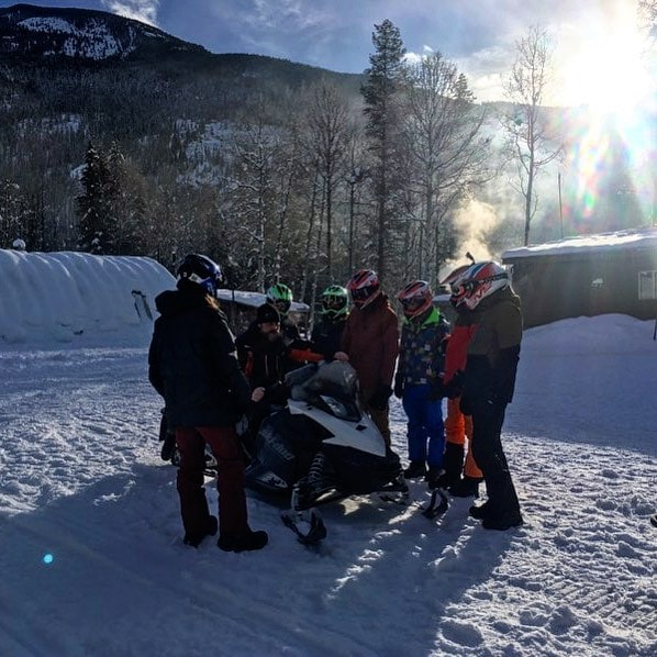 Before any of our tours leave our base area our guides provide all guests with a safety briefing and orientation to the #snowmobile. Then we head out to our practice area to get comfortable with handling the machine before heading out on the trail. Every year we teach hundreds of people how to ride a snowmobile.
