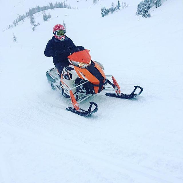 #REPOST: Time for a snowmobile ride #tobycreek #snowmobile