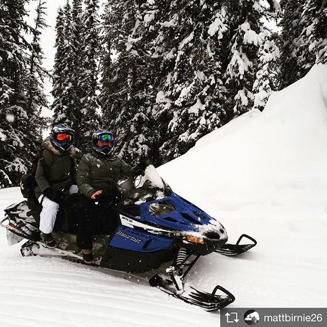 Repost from @mattbirnie26 Awesome day snowmobiling at Panorana today. #snowmobiling #canada #powderday #tobycreekadventures #banfftours #snowedin #watchoutforthattree
