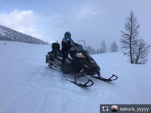 Repost from @sakura_yyyyy #banffnationalpark##banff##paradisemountain##paradisemines##snowmobile##snowmobiling##invermere##invermerebc#