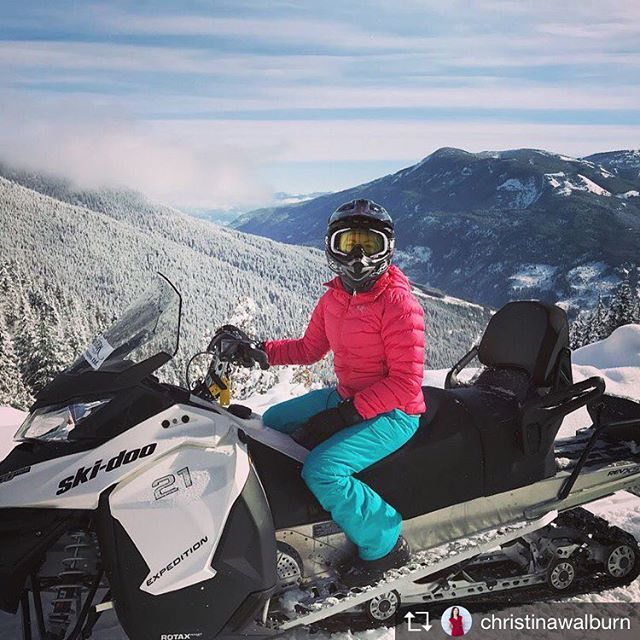 Repost from @christinawalburn  Gorgeous day of snowmobiling in the mountains with #tobycreekadventures.