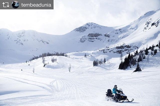 Repost from @tembeadunia Reminiscing our trip to Alberta where we ended up Snowmobiling in British Columbia for a day. You heard right :) From Banff, Alberta the border of British Columbia is less than an hr away!!! @tobycreekadv picked us up from our hotel and took us to Paradise Basin where we gathered at their office, filled out a waiver, got geared up, reviewed safety information and learnt how to ride the snowmobile before we headed up the mountain 8000ft high. It was a day of fun and we all slept like logs on the way back to Banff! #tembeadunia . . . . .  #hellobc #canadiancreatives #artofvisuals #awesome_earthpix #landscape_captures #rsa_rural #natureaddict #nature_wizards #imagesofcanada #naturediversity #totescanadian #earth_deluxe #instanaturelover #nature_prefection #allnatureshots #snowmobiling #nature_brilliance #EarthVisuals #canadagram #cangeotravel #insidecanada #planetdiscovery #welivetoexplore  #explorebc #hellobc #explorecanada #beautifulbc #sharebc  #focalmarked