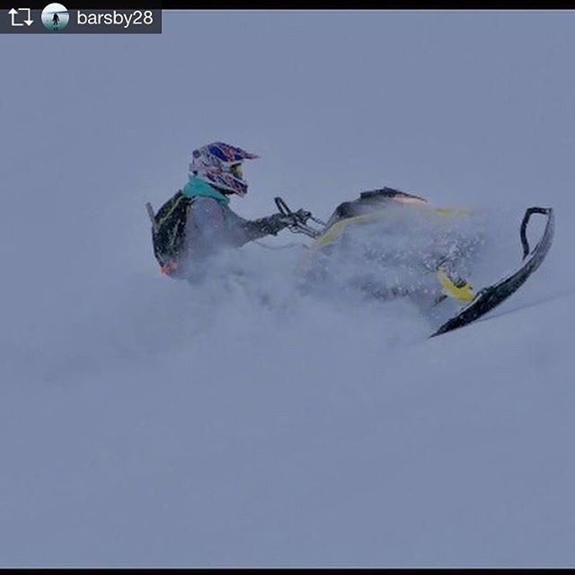 YEAH Tash !! Way to ride girl !!👍👌😄 #snowmobile #tobycreekadventures …