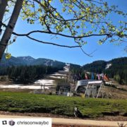 #Repost from @chrisconwaybc ・・・ In this heat the snow is …