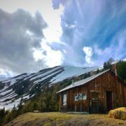 Crazy cloud effects over Paradise Ridge and our cabin this …