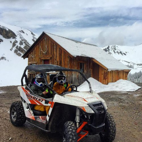 One of our sporty new Arctic Cat Wildcats at the cabin today.