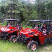 2-seat and 4-seat Kawasaki Teryx side-by-side UTV's.
