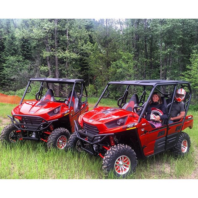 We are excited to announce we have taken delivery of these 2-seat and 4-seat @kawasaki Teryx side-by-side UTV's.  These 4WD units are available as upgrades on any of our ATV tours. Contact us for details.  #invermere #radiumhotsprings #panoramabc #fairmonthotsprings #columbiavalley #banff #canmore #canadianrockies