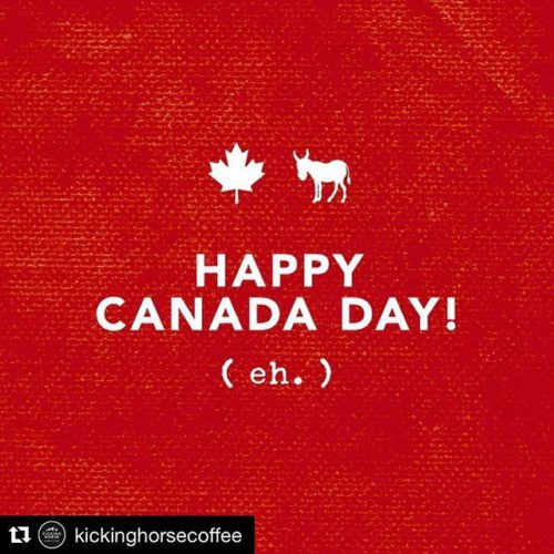 #Repost from @kickinghorsecoffee ・・・ Happy Canada Day! (Eh.) #kickinghorsecoffee #kickasscoffee …
