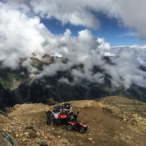 Above the clouds today on #ParadiseRidge  #ATV #SideBySide #Mountains …