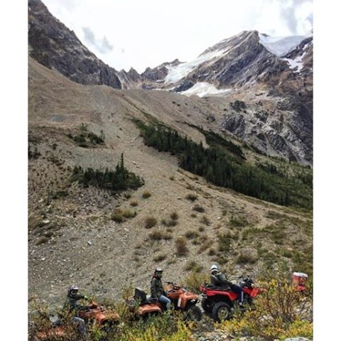We recently introduced a new #ATV tour for intermediate to advanced riders. Our #GlacierSafari tour goes deep into the Purcell wilderness to a high alpine lake surrounded by rock and ice.
