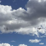 A plane and glider flew right past us as we …