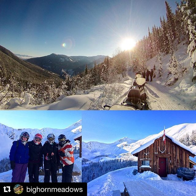 #Repost @bighornmeadows with @repostapp ・・・ Thank you @tobycreekadv for taking out our staff for an awesome day of snowmobiling. We look forward to working with you for another season! . . . #bighornmeadows #tobycreekadventures #snowmobilingtours #radium #panorama #columbiavalley #kootrocks #explorebc #lovewhereyoulive