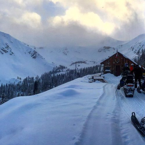 At the Paradise Cabin today. Fresh snow with light winds …