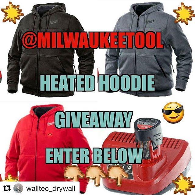 Oh Yeah!! a heated hoodie #walltecdrywallgiveaway from @walltec_drywall ???????????? ・・・ …