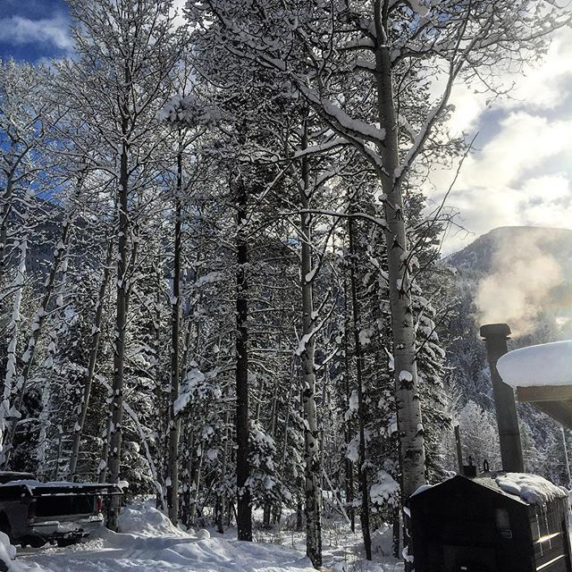 Fresh #snow in the #Aspens at our base area today! …