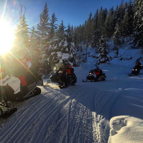 The end of another perfect #snowmobiling day at Toby Creek …