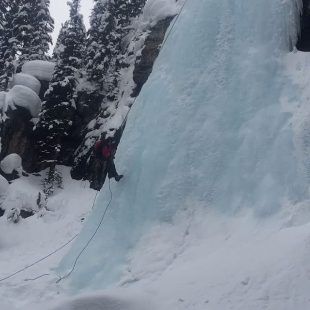 Ice climbers on the Smith Falls today.
