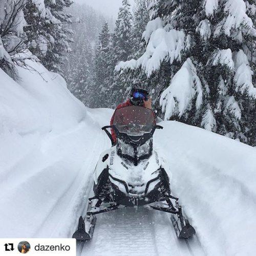 Instagram repost from @dazenko ・・・ On Thursdays we sled #skidoo …