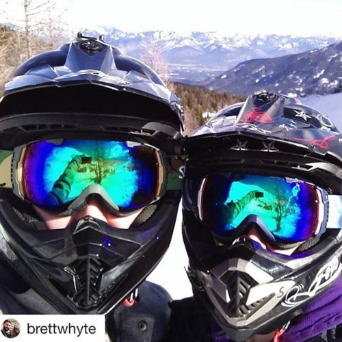 Instagram repost from @brettwhyte ・・・ Snowmobiling in the Canadian Rockies …