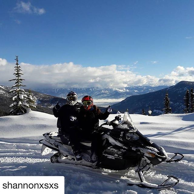 Instagram repost from @shannonxsxs ・・・ Snowmobiling panorama ❤❄ #panorama #bc …